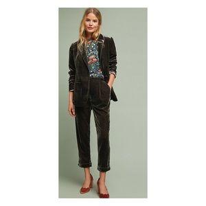 Cuffed Velvet Trousers